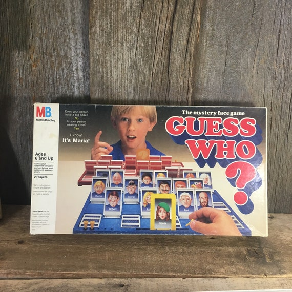 Vintage Guess Who game from 1987, Milton Bradley game, Guessing mystery game, childrens 2 person game, the mystery face game Guess Who