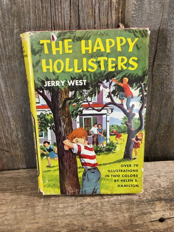 The Happy Hollisters by Jerry West, copyright 1953 The Happy Hollisters, vintage young readers book, book for teens, book worm gift
