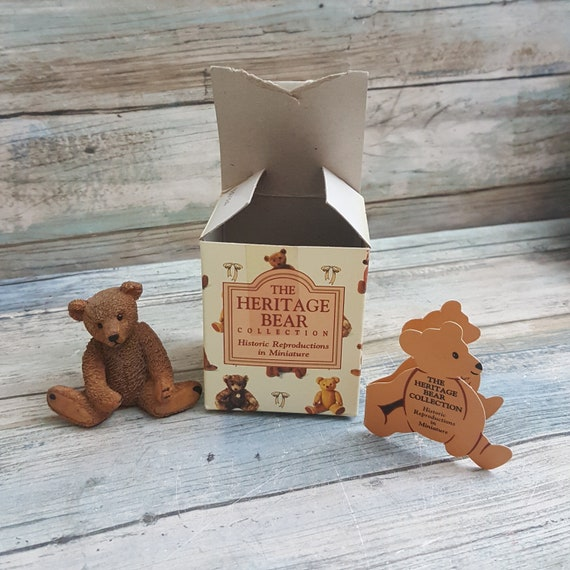 The Heritage Bear collection historic Steiff reproduction in miniature Westland gift ware, Bruno repro bear collection, mini resin bear