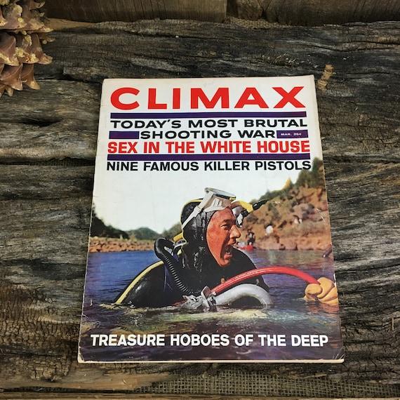 Vintage Mens magazine, Vintage Climax magazine March 1962, 1960's Men's magazine, mid century Mens magazine, Treasure Hoboes of the deep