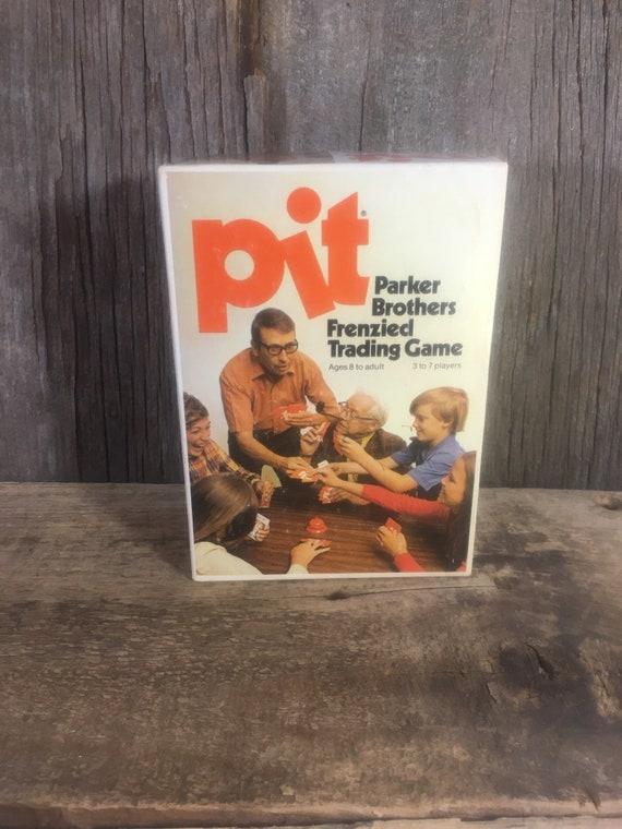 Vintage game of Pit, super game, fun vintage games, Pit game from 1973, vintage Parker Brothers, frenzied trading game, vintage game memory