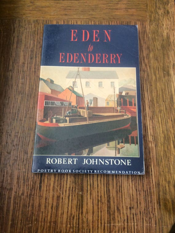 Vintage Eden to Edenderry book of poems 1989, vintage book of poems, Robert Johnstone book of poems, vintage poetry, vintage books