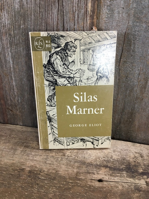 Vintage from 1962 Silas Marner by George Eliot, Silas Marner book, story about a weaver, vintage book gift, bookworm gift, library addition