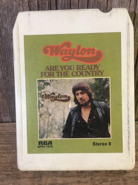 Vintage 8 track tape Waylon Jennings from 1976, vintage Waylon Jennings, vintage country music, are you ready for the country 8 track tape