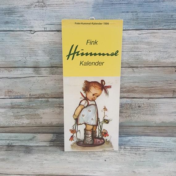 Hummel postcard calendar, unused Hummel postcards from 1986, 1986 Hummel Calendar, Fink Hummel Kalendar 1986, Fink Hummel Calendar