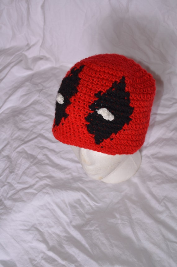 Children s deadpool crochet hat  5ccfe25b38e