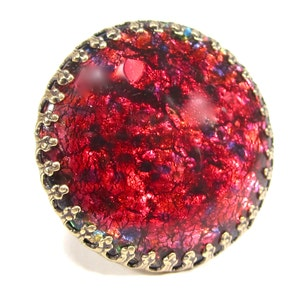 star signs vintage bronze bohemia oval volcano Handmade glass stone 60s handmade in cologne germany SoHo\u00ae zodac ring gemini