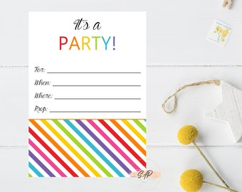 Fill In Invitations Etsy
