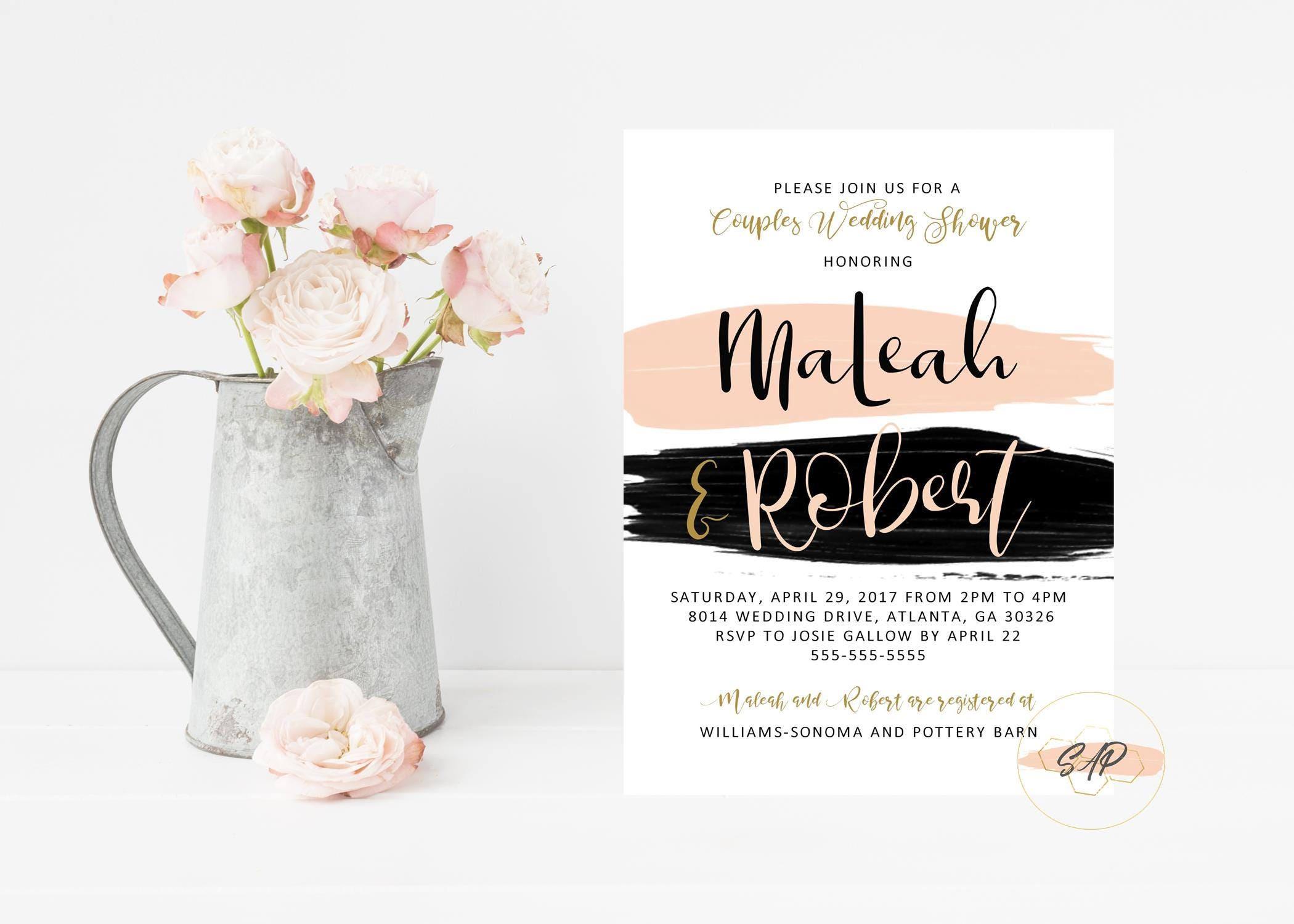 Gift Card Wedding Shower Invitation Wording: Couples Wedding Shower Invitation Wedding Shower Invites