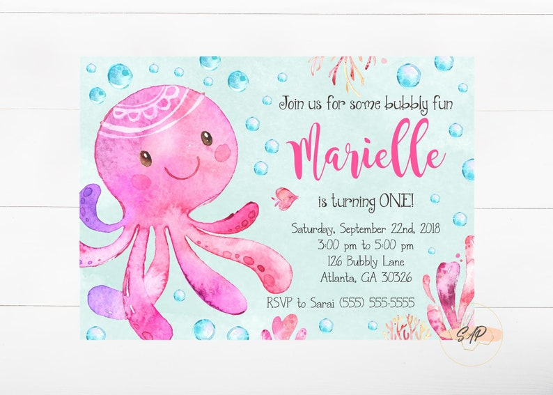Birthday Facebook Event Photo - Cover Photo - Octopus Birthday - Under the  Sea Birthday - Under the Sea Party - Ocean Birthday Party