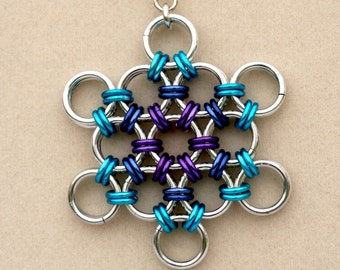 Snowflake Chain Maille Pendant