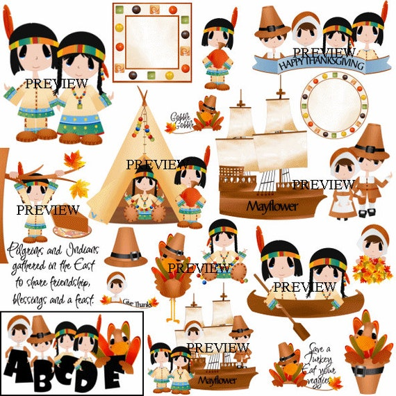 pilgrim clip art indian clipart mayflower graphics etsy rh etsy com Feast Clip Art pilgrim and indian clipart