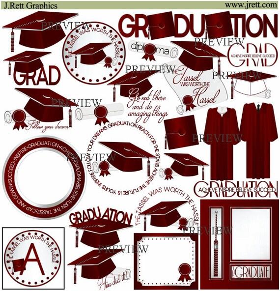 Maroon Graduation clipart MORE COLORS class of 2018 clip | Etsy
