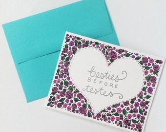 Besties BEFORE Testes // Galentine's Day Card // Handmade