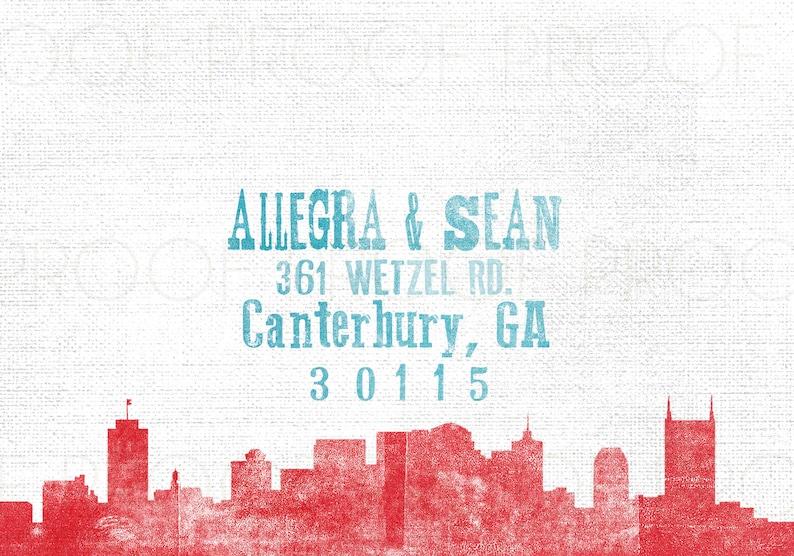 Concert Poster Woodblock Print Inspired Wedding Invitation Set  Party  Nashville