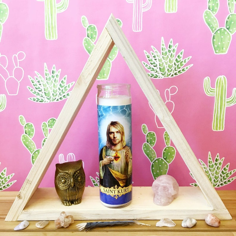 Saint Kurt Cobain // Nirvana Prayer Candle