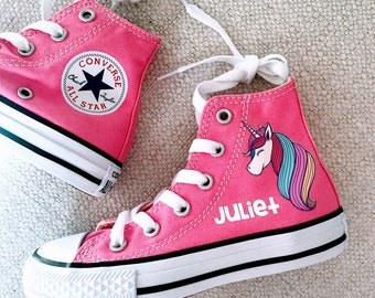 839f9f797f4b Personalized Unicorn converse - customized chucks - Birthday outfit -  Birthday gift