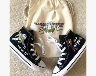 36a61f1b717165 Toy Story Shoes - personalized chuck taylors - customized converse Woody