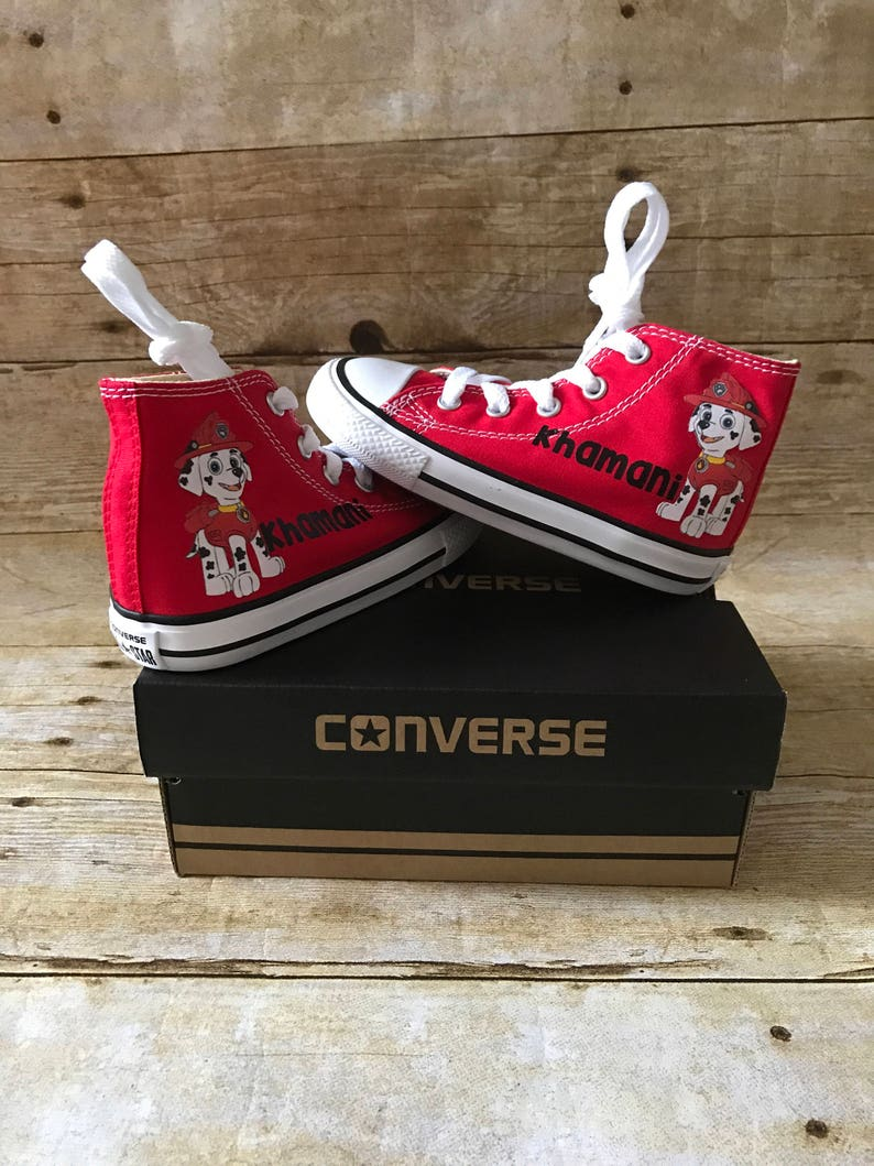 13ed08c32ce7d Paw patrol Marshall Shoes - personalized chuck taylors - customized  converse - personalized - Birthday swag