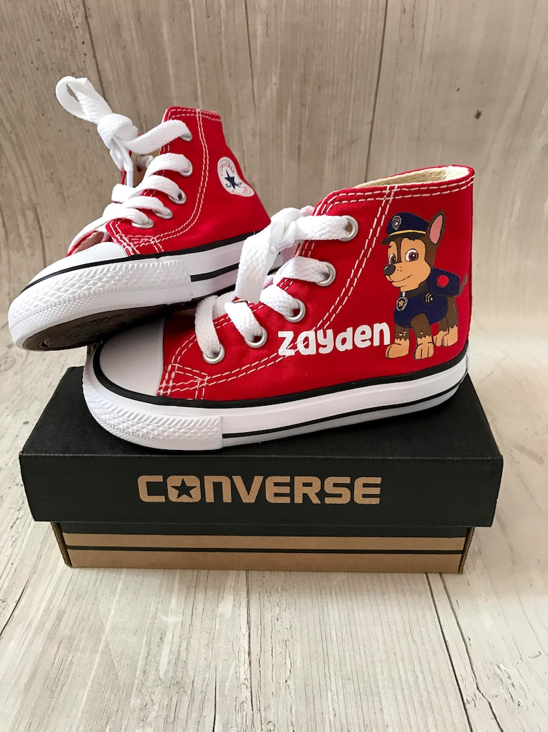 d19a05ab99625 Paw patrol Chase Shoes - personalized chuck taylors - customized converse -  personalized - Birthday swag