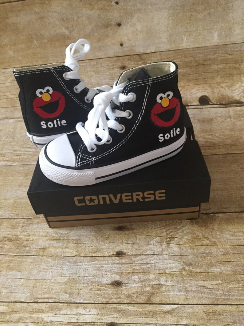 a017f9f8b22f Elmo inspired Converse Shoes personalized chuck taylors