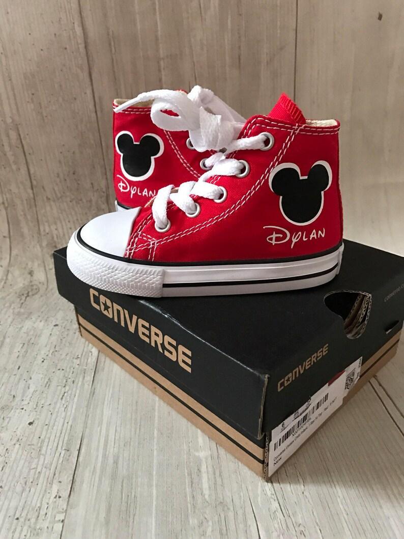 5533026189bb3e Personalized Mickey Ear converse customized chucks Minnie