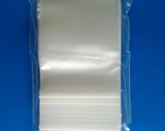 Clear Reclosable Zip lock Plastic 2-Mil Ziplock Bags Poly Jewelry Zipper Baggies