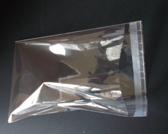 100 Crystal Clear Self Adhesive Seal Resealable Cello OPP MULTI-SIZED Packaging Packing Bags