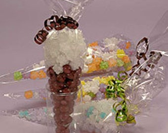 Carrot cone gift bag etsy 100 qty 7 12 x 17 large clear cone shaped candy negle Choice Image