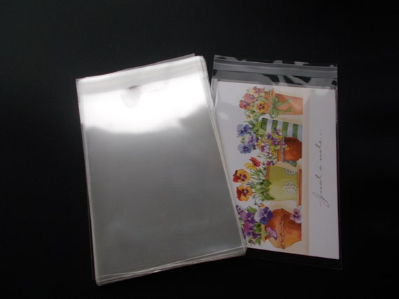 100 a6 cello bags clear transparent peel and seal etsy image 0 m4hsunfo