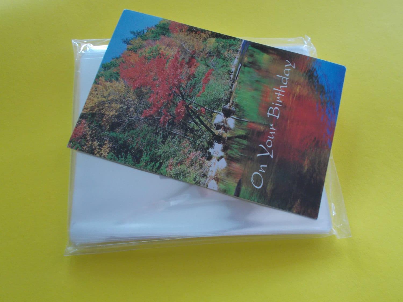 No Flap Cello Bags Fits A2 Card Envelope 4 58 X 5 Etsy