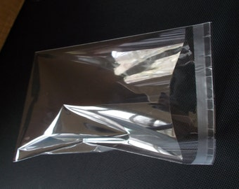 100 Self Sealing Resealable Lip and Tape Cello Clear Bags - 1.2Mil -2x2 ,2x3, 2.75x3.75, 3x5, 4x6, 5x7, 6x8, 8x10, 9x12, 10x13, 11x14, 11x17