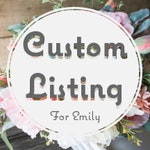 Custom Bridal and Bridesmaid's Bouquets for Emily
