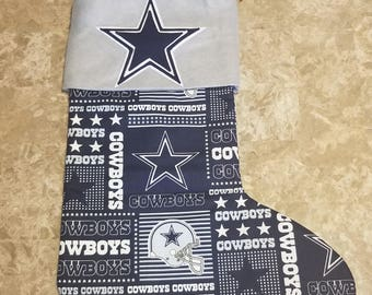 Dallas cowboys christmas stocking