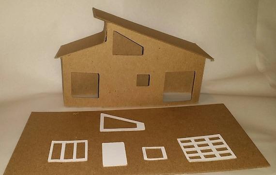 Petites Maisons Putz Carton Bricolage Style Maison Etsy