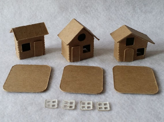 Case di villaggio di cartone di tiny case fai da te 3 etsy