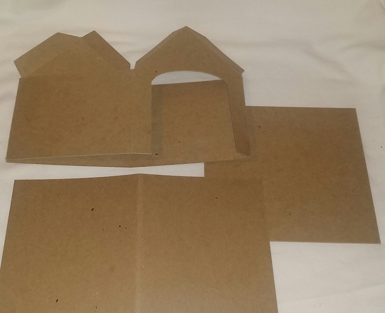 Cardboard Diy 7 1 2 Tall Dog House Quantity 1 Etsy