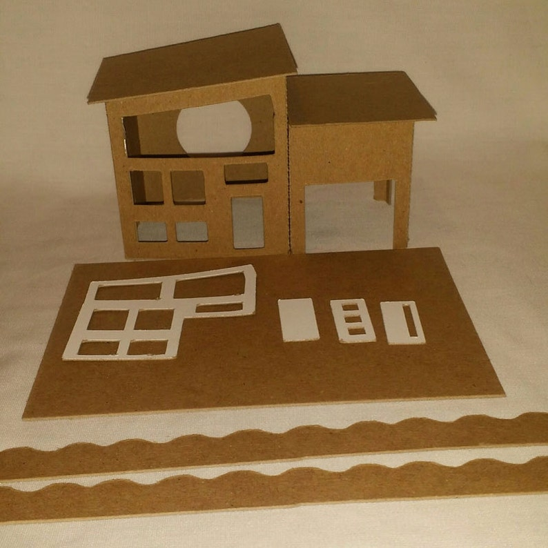 Little Village Houses Diy Cardboard Putz Style House Etsy