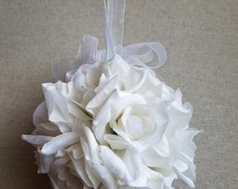White Rose Pomander Ball
