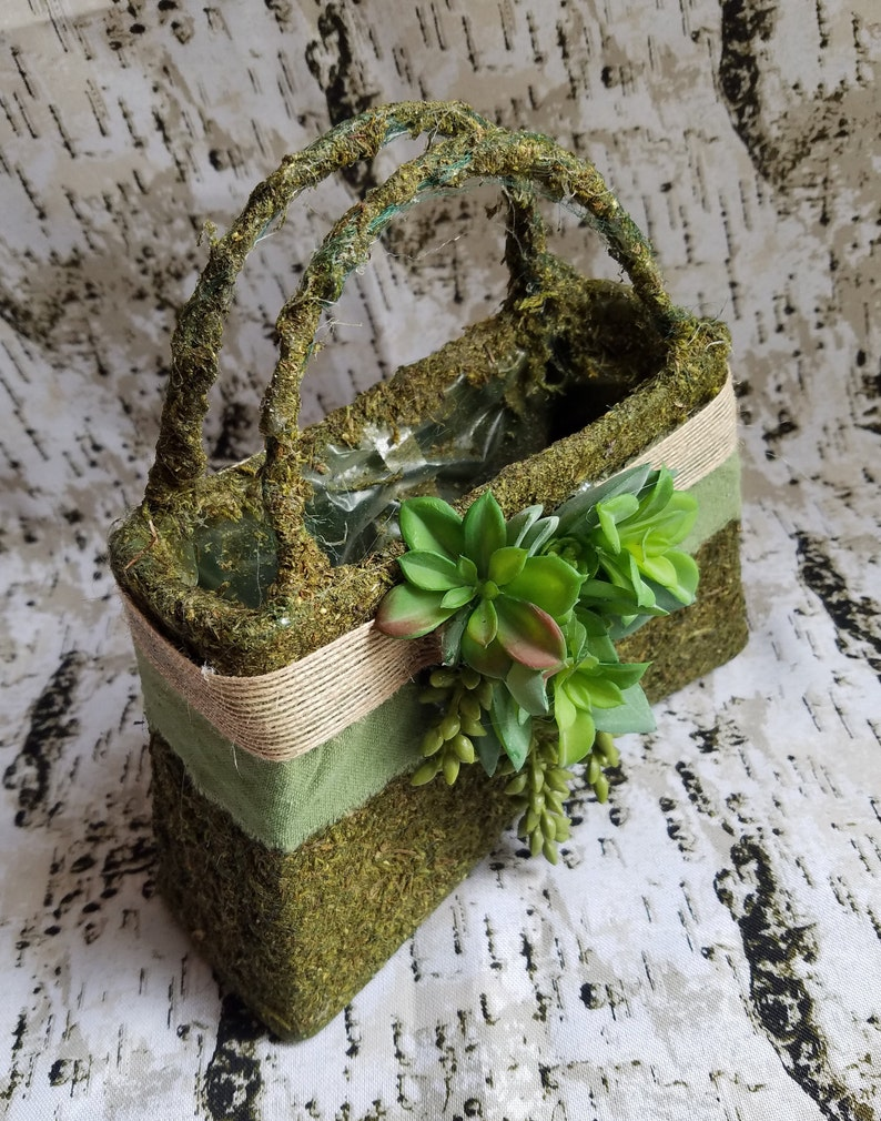 Flower Girl Purse with Succulents