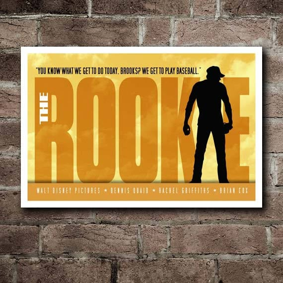 THE ROOKIE Movie Quote Poster 18x12