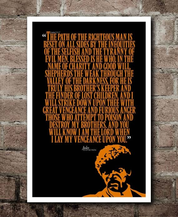 PULP FICTION - JULES Quote Poster (12\