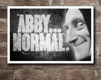 """YOUNG FRANKENSTEIN - IGOR """"Abby... Normal"""" Quote Poster (18""""x12"""")"""