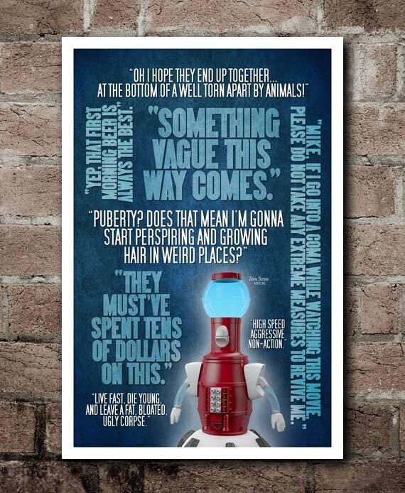 Mst3k Tom Servo Quotes Poster 12x18 Etsy