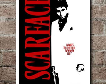 """SCARFACE Movie Quite Poster (12""""x18"""")"""