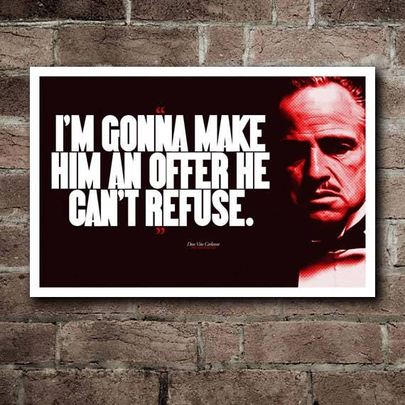 The Godfather Offer He Cant Refuse Quote Etsy