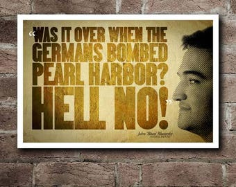 """Animal House BLUTO """"HELL NO!"""" Quote Poster (18""""x12"""")"""