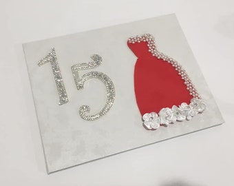 57bb25919b8 Quinceanera Birthday Dress Guest Book with Mis Quince Anos Mini Rhinestone  Tiara