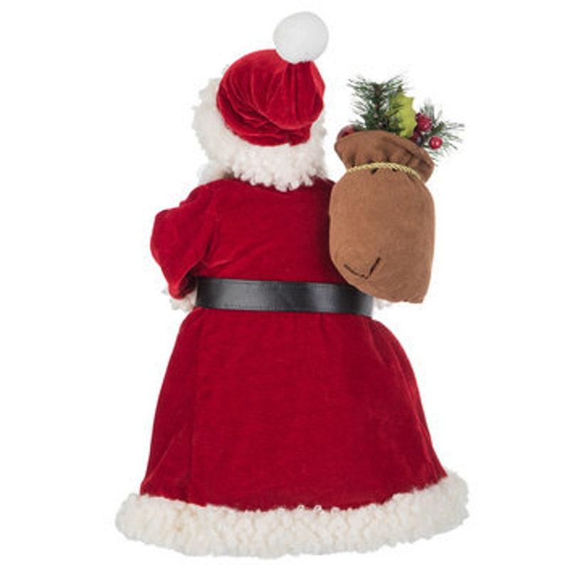 Santa Buffalo Print Tree Topper With Lantern Christmas Tree Top Decoration Gift Keepsake