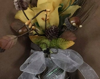 Country Western Wedding Table Centerpiece Decoration